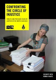 Confronting the circle of injustice - Amnesty International UK