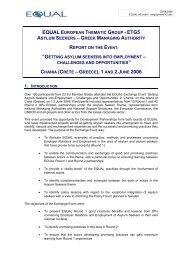 getting asylum seekers into employment - Tema asyl & integration