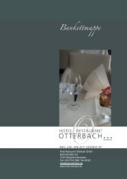 Unsere Bankettmappe - Hotel Otterbach