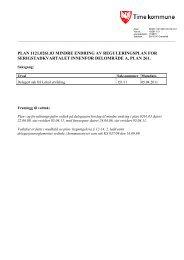 plan 1121.0261.03 mindre endring av reguleringsplan for ...