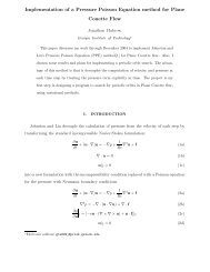 Implementation of a Pressure Poisson Equation ... - ChaosBook