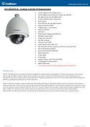 GV-SD220-S Specifications - CCTV Cameras