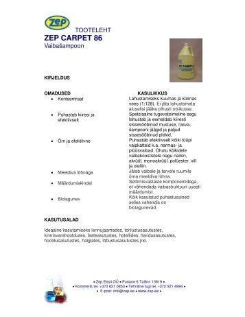 ZEP CARPET 86 - Zep Eesti OÜ