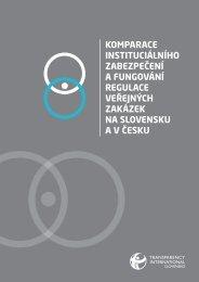 Komparace institucionálního zabezpečení a fungování ... - Bezkorupce