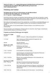 Einladung zum Seminar - Landeszentrale für politische Bildung ...