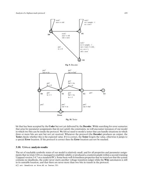 Analysis of a biphase mark protocol with UPPAAL and PVS - Intranet ...