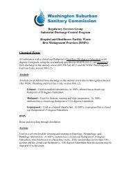 BMPs - Washington Suburban Sanitary Commission