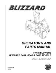 OPERATOR'S AND PARTS MANUAL - JS Woodhouse