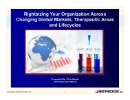 Rightsizing_Your_Org.. - Pharma Competitive Intelligence Conference
