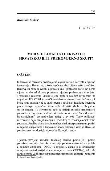 Moraju li naftni derivati u Hrvatskoj biti prekomjerno