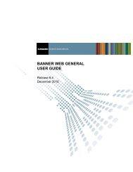 Banner Web General / User Guide / 8.4