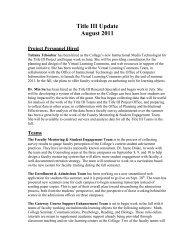Title III Update August 2011