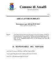 il responsabile del servizio - Comune di Amalfi