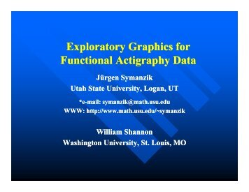 Exploratory Graphics for Functional Actigraphy Data - Utah State ...