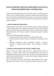 Upute studentima za pisanje diplomskog rada / završnog rada