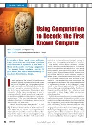 Using Computation to Decode the First Known Computer