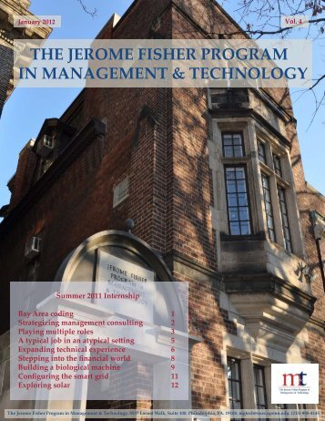 the jerome fisher program in management & technology