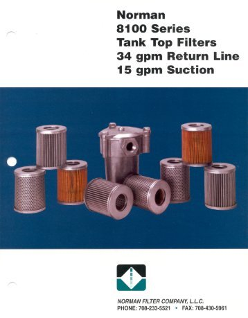 8100 series Catalog - Norman Filters
