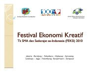 Panduan FEKSI 2010.pdf - Indonesia Kreatif