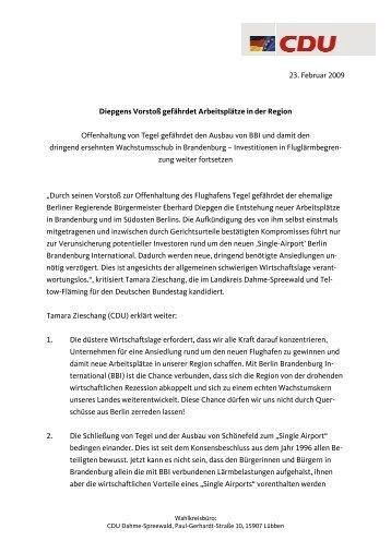 Pressemitteilung als PDF öffnen - Dr. Tamara Zieschang