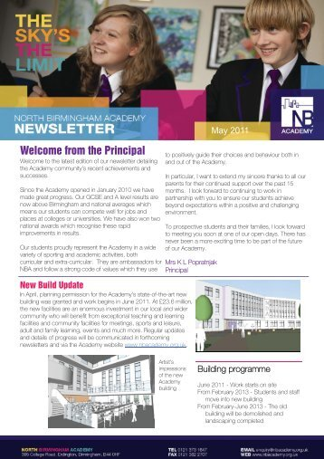 NBA Newsletter - May 2011 - North Birmingham Academy