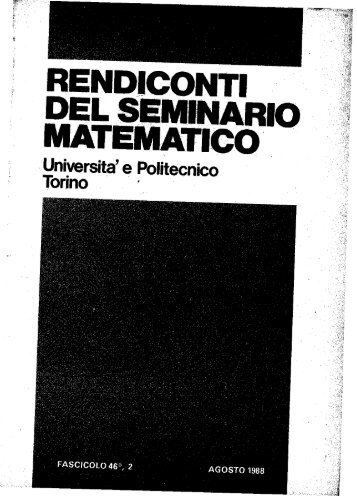 Vol. 46 No. 2 - Seminario Matematico