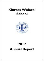 Kinross Wolaroi School 2012 Annual Report