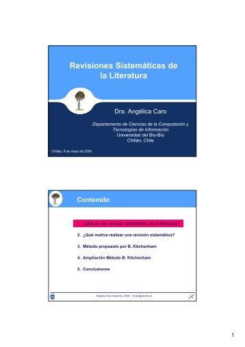 Revisiones Sistemáticas de la Literatura - Universidad del Bío-Bío