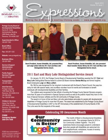 March 2012 ‰ Volume 19, Issue 1 - Portage County Board of ...