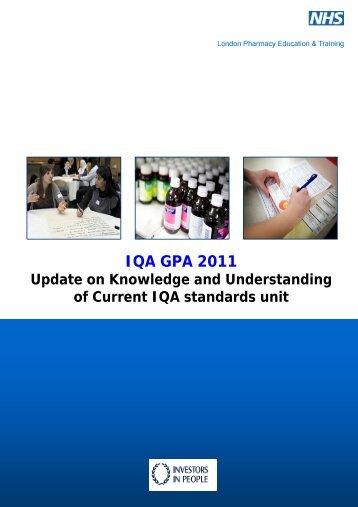 IQA GPA 2011 - LPE&T