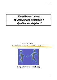 Harcèlement moral et ressources humaines - Comprendre pour agir