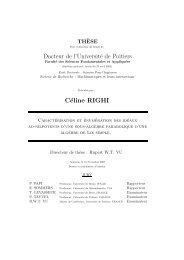 Docteur de l'Université de Poitiers Céline RIGHI - Mathématiques