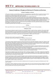 general terms & supply conditions - META-Automation