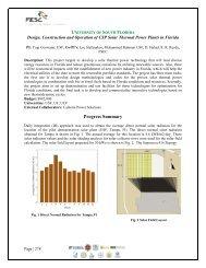 November 2011 Annual Report - Florida Energy Systems Consortium