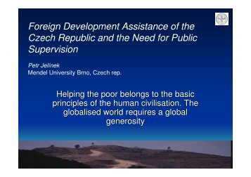 Foreign Development Assistance of the Czech Republic and the ...