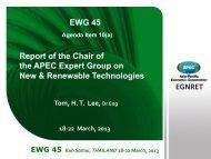 EGNRET EGNRET Report of the Chair of the APEC ... - ESCI KSP