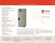 Trane Dealer Sheet TRANE 2/4TEC AIR HANDLER