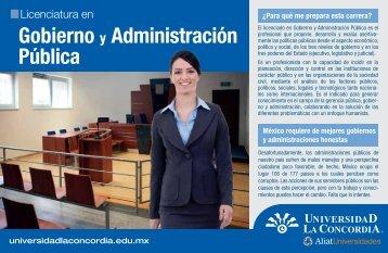 Gobierno y Administración Pública - Universidad La Concordia