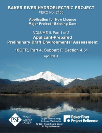 Application for New License, Vol II, Part 1 of 2, Applicant-Prepared ...