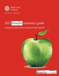 2013 benefits summary guide - Jones Lang LaSalle