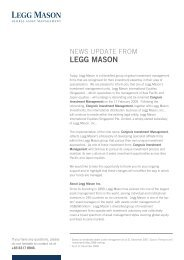 News update from Legg Mason - Congruix _r2 - Fundsupermart.com
