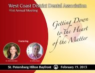 2013 Annual Meeting Brochure - West Coast Dental Association