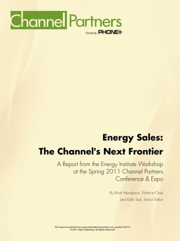 Energy Sales: The Channel's Next Frontier - Connectivity Source