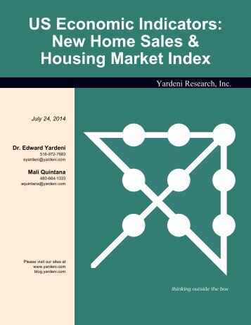 New Home Sales & Housing Market Index - Dr. Ed Yardeni's ...
