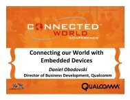 Connecting our World with Embedded Devices - 4G Americas
