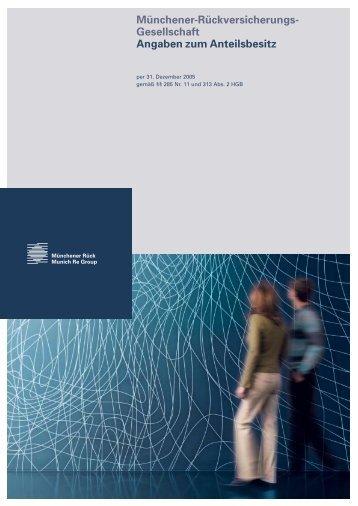 Gesellschaft Angaben zum Anteilsbesitz - Munich Re