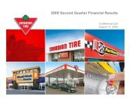 Q2 2009 Conference Call Presentation - Canadian Tire Corporation