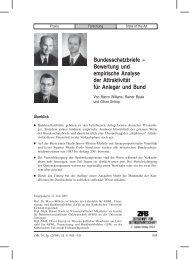 Bundesschatzbriefe – Bewertung und empirische Analyse der ...