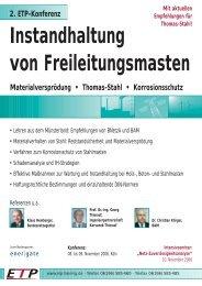 Instandhaltung von Freileitungsmasten - Wolter Hoppenberg