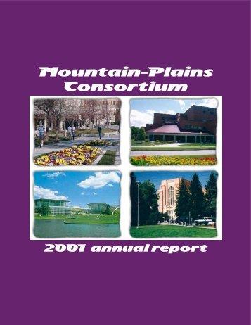 2001 Annual Report - Mountain-Plains Consortium